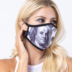 100 Bucks 3-Layered Face Cover-PM0074