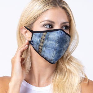 Dear Denim Dark 3-Layered Face Mask