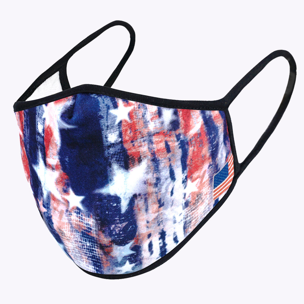 American Flag Tie Dye 3-Layered Face Mask