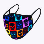 Multi-colors Skulls 3-Layered Face Mask