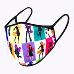 Color Block Fancy Women 3-Layered Face Mask