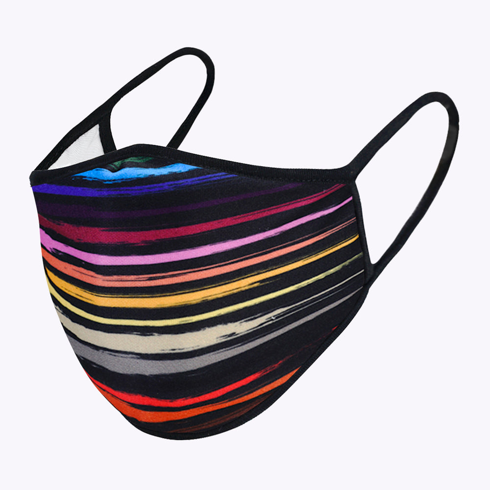 Multi-colors Lines 3-Layered Face Mask-PM0093