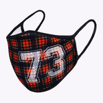 Checker Number 73 Lettering 3-Layered Face Cover-PM0111