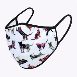 Multi Cats Behavior 3-Layered Face Mask-PM0155
