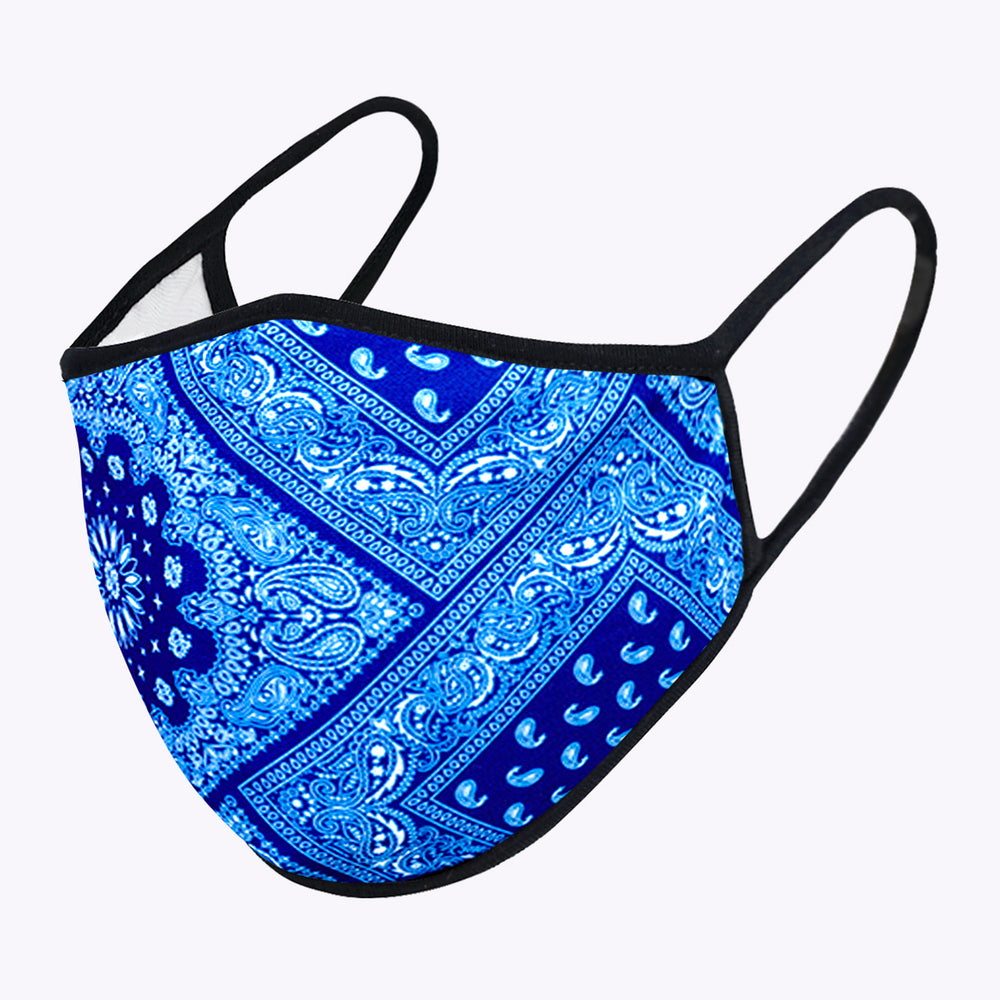 Blue Aztec 3-Layered Face Mask