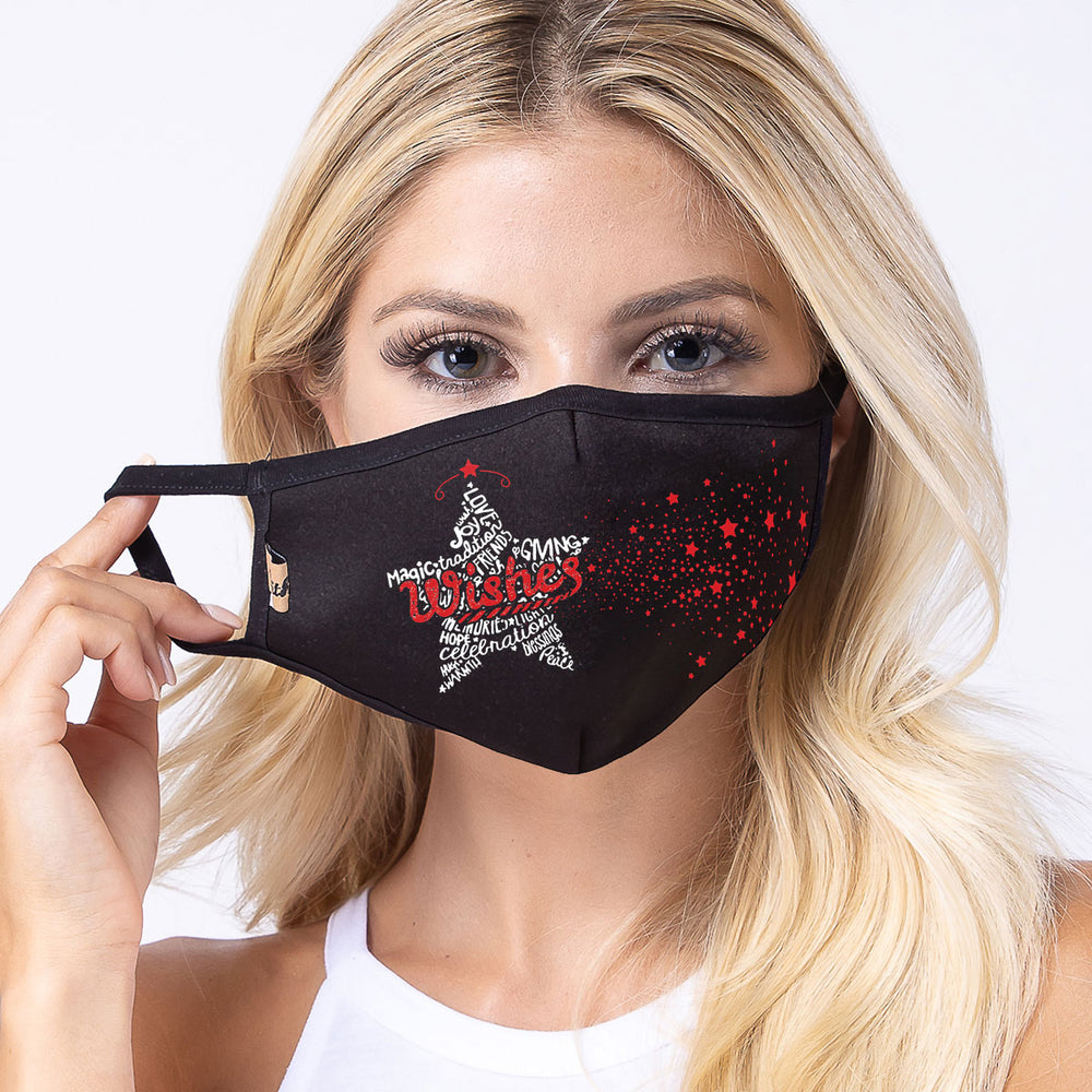 Star Wishes 3-Layered Face Mask-PM0259