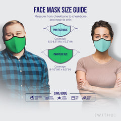 WITH U Washable Reusable Face Masks - 3-Layer with Adjustable Ear Loops - Designer Print - PM4052