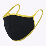 Black Yellow 3-Layered Filter Face Mask
