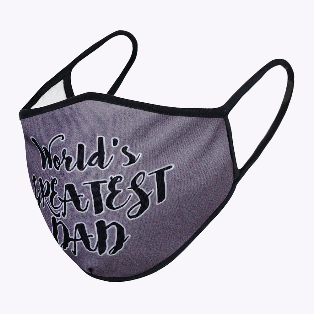 Gray My Dad 3-Layered Face Mask-PM0177