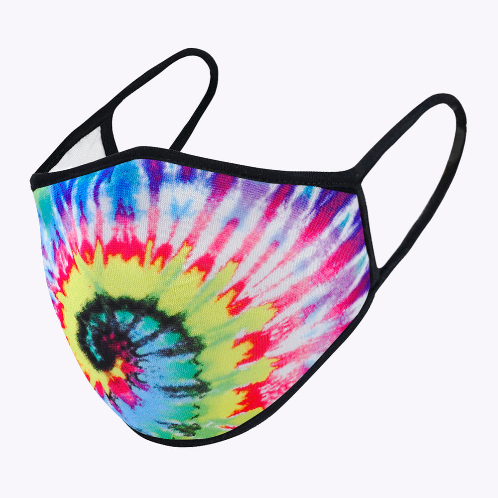 Bright Tie Dye 3-Layered Face Mask