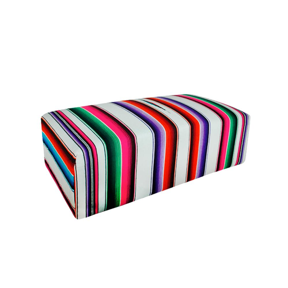 TABURETE ZARAPE COLORES RECTANGULAR / 2 PAX