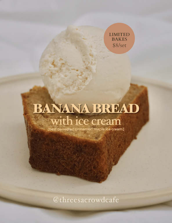 New Banana Cake w/ Ice Cream