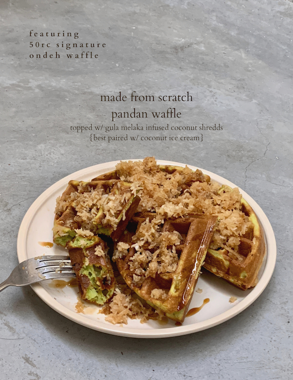 Ondeh Waffle by Three's A Crowd