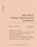 Premix: Sea Salt Dark Chocolate Cookies