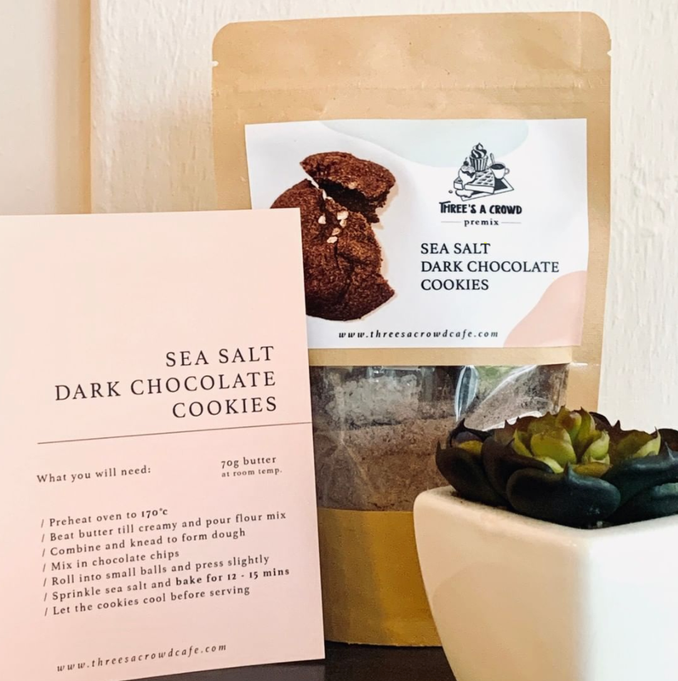 Load image into Gallery viewer, Sea Salt Dark Chocolate Cookies [Premix]