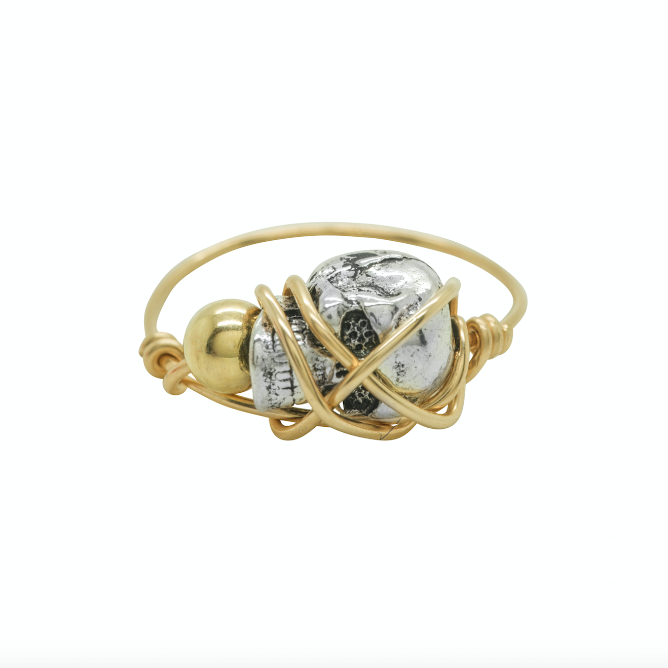 Kat and Bee Gold and Silver Bead Ring_Big G by Kat&Bee Jewellery