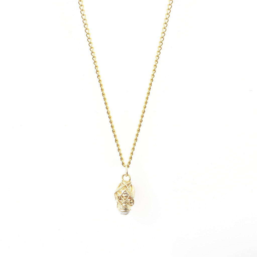 Necklaces & Chains GOLD SKULL NECKLACE: THE KALIDA HANDMADE BY KAT&BEE JEWELLERY