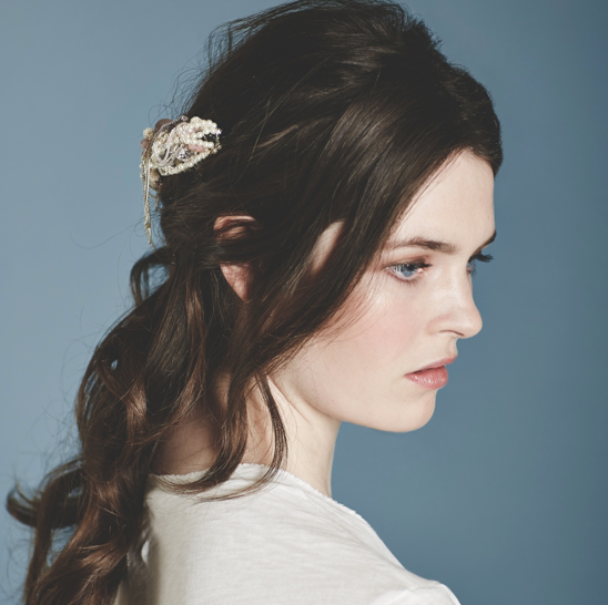 Kat and Bee Bridal Hair Chained Comb: Bespoke by Kat&George