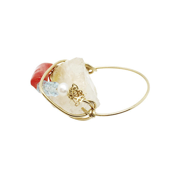 Kat and Bee Raw cut single band cocktail ring: Citrine Smiles by Kat&Bee Finer Jewellery