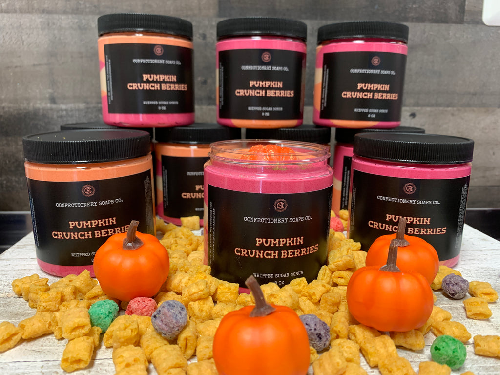Pumpkin Crunch Berries Whipped Soap