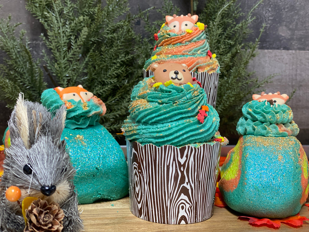 Woodland Critters Bath Fizzie with Bubble Frosting