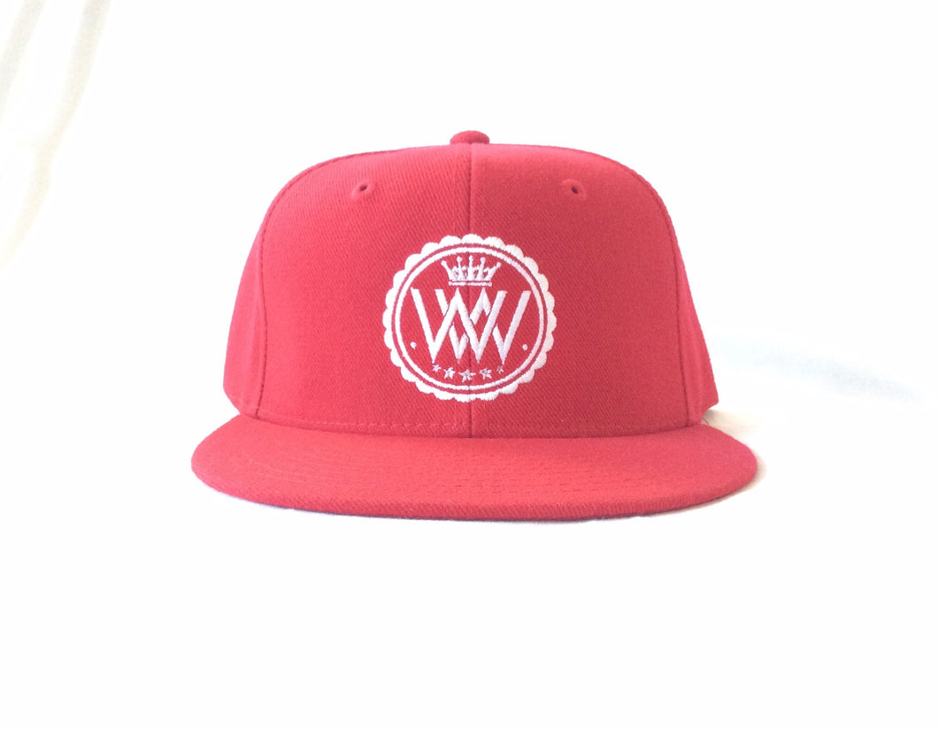Red WW Hustle Brand Snapback Hat