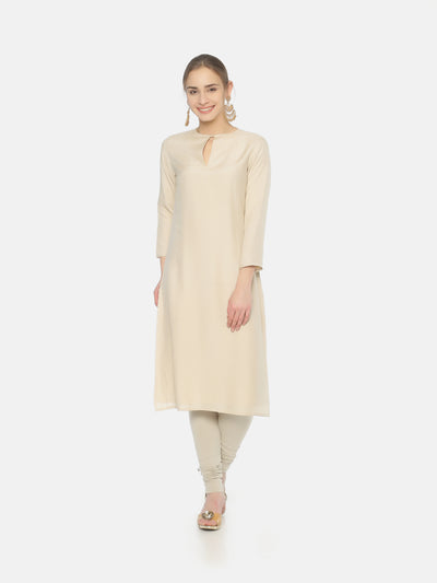 Plain Moonga Silk Kurta - Studio Y
