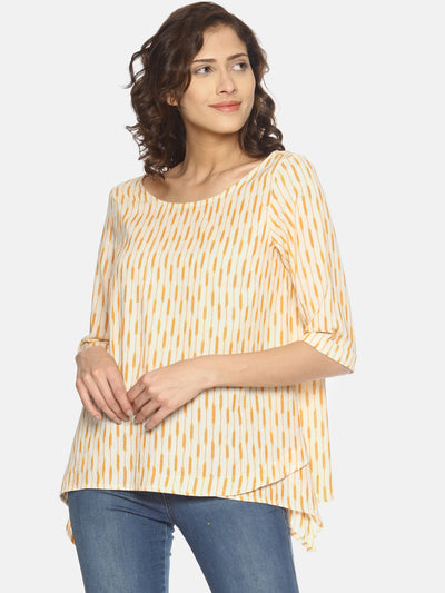 Fish Cut Ikat Top - Studio Y