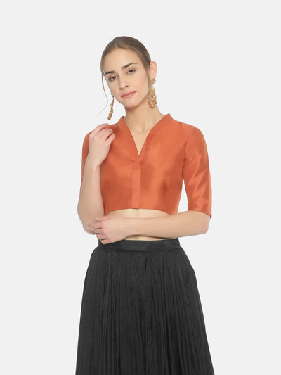 Orange Blouse - Studio Y - Blouse ka Design