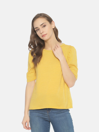 Mustard Striped T-Shirt - Studio Y