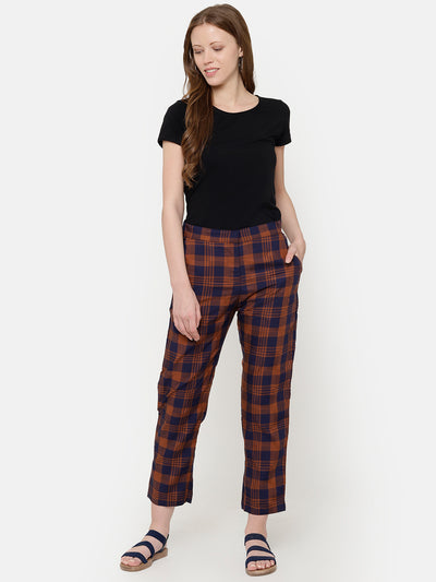 Label Y Basics Trouser Checkered Pocket Pants