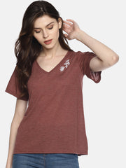 Brown Leaf T-Shirt - Studio Y