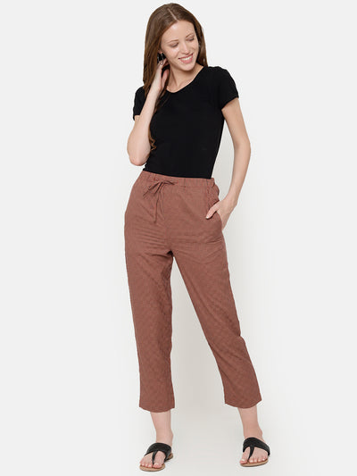 Label Y Basics Trouser Checks Elastic Pants - Tiny Checks