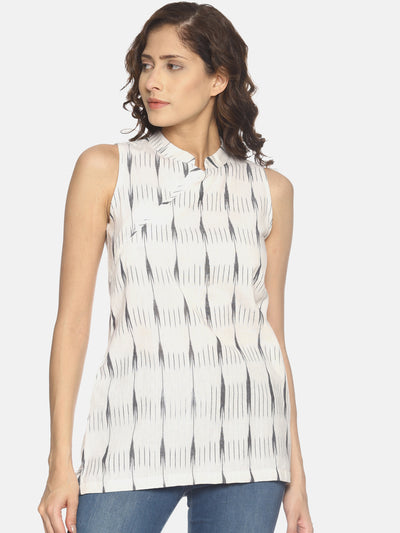 Cross Neck Ikat Top - Studio Y