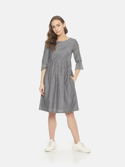Bell Sleeve Dress - Grey - Studio Y