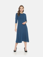 Slit Knit Dress- Blue - Studio Y
