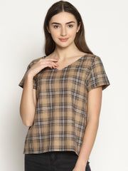Flap Checks Top - Studio Y