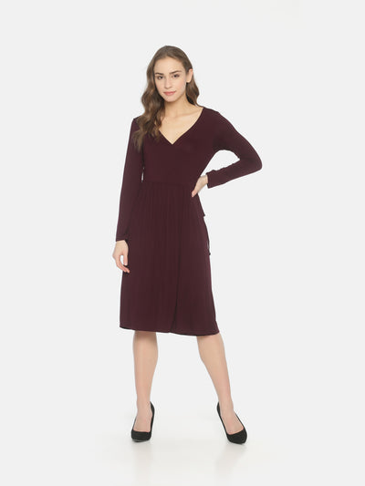 Purple Wrap Dress - Studio Y