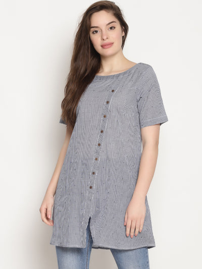 Slant Button Tunic - Studio Y