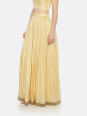 Light Yellow Gathers Skirt - Studio Y