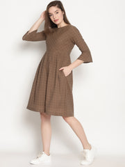 Caramel Checks Dress - Studio Y