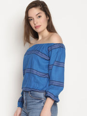 Striped Crop Top - Studio Y