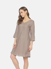Linen Mid Pleat Dress - Studio Y