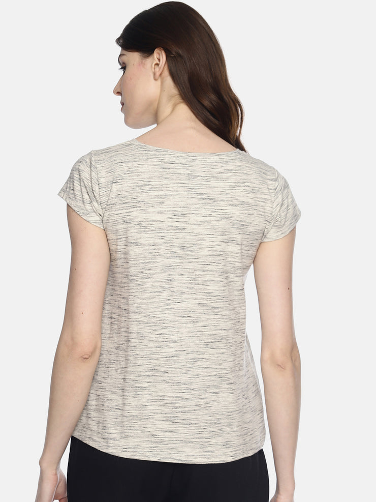 Black And White T-Shirt - Studio Y- ladies basic tee
