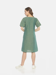 Balloon Sleeve Dress - Green - Studio Y