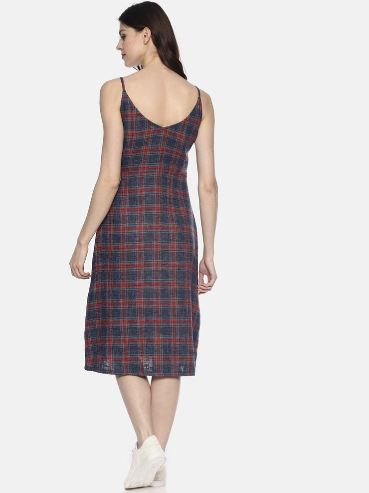 Checks Spaghetti Dress - Studio Y