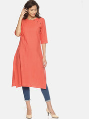 Button Neck Kurta - Studio Y