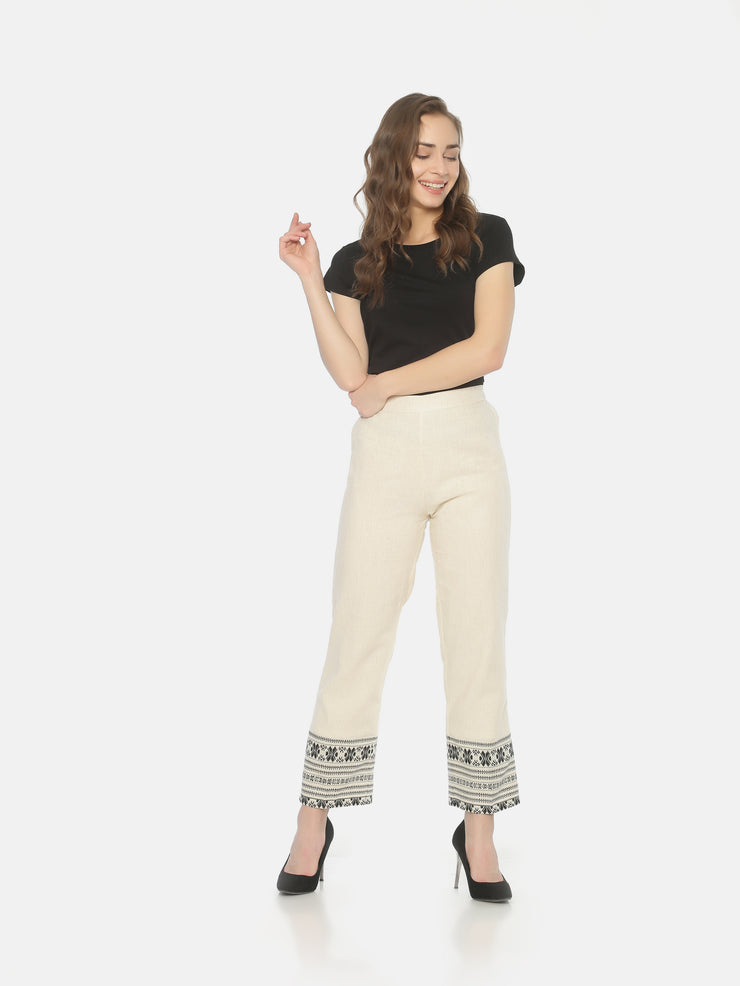 Cotton Elastic Pants - Studio Y