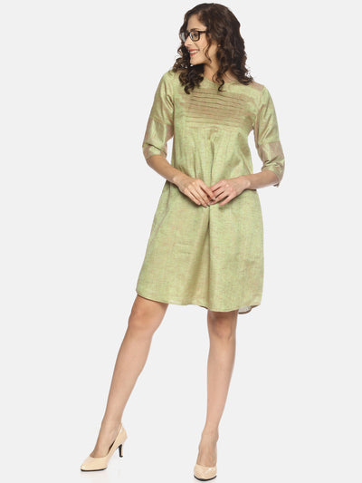 Row Tuck Dress - Green - Studio Y