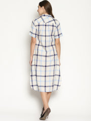 High Slit Checks Dress - Studio Y